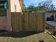Fence on Side of House